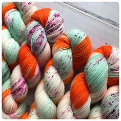 Fingering, Dreamsicle, hand dyed yarn