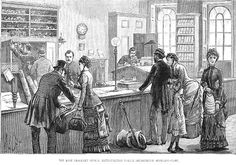 The lost property office at Scotland yard, 1883. This is where Anthony frequents when he has no interesting cases