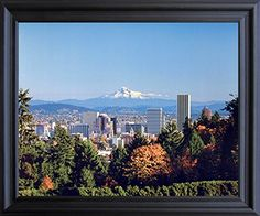 Get ready to adorn your living space with this charming Portland rose Garden and Mt. Hood nature framed art poster from the house of Impact Posters Gallery. This nature's inspired landscape framed art poster will add a touch of beautiful charm to any room and surely will enhance the look of your console. This framed poster captures the image of Portland Rose Garden and Mt. Hood is sure to grab lot of attention.