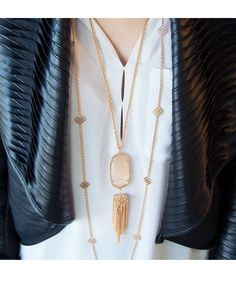 Rayne Rose Gold Necklace in Peach - SHOP ellie bee's - Longview, Texas www.facebook.com/elliebeespaperandgifts