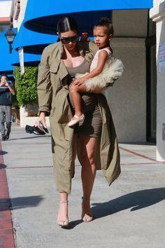 Kim Kardashian and North West Photos: Kim and Kourtney Kardashian Take Their Daughters to Ballet Class