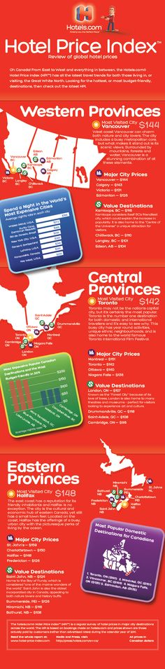 "[infographic] ""Hotel Price index in Canada"" Apr-2012 by Hotels.com"