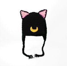 Sailor Moon Cat Earflap Hat, Luna, Artemis, and 50 similar items
