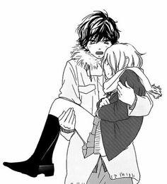anime, ao haru ride, and manga image Anime Chibi, Manga Anime, Romantic Anime Couples, Cute Anime Couples, Ao Haru Ride Anime, Futaba Y Kou, Tanaka Kou, Best Romance Anime, Blue Springs Ride