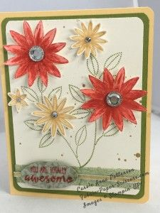 """#HSS233 Hand Stamped Sentiments I added """"Carole Anne Patterson"""" to an #inlinkz linkup!http://fabric-paper-scissors.com/2016/03/10/its-california-march-showers-bring-march-flowers/"""