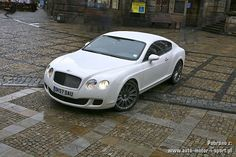gorgeous white Bentley Continental GT Speed