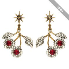 Gucci Flower Earrings With Crystals