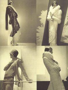 Hélène Bigotte présentant des robes d'après-midi et des robes de soirée par Lucien Lelong, années 1920