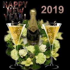 Thrash Metal, Wine Bottle Images, Happy New Year Greetings, London Christmas, Colorful Birthday, Happy Birthday Wishes, Pink Champagne, Feeling Happy, Happy Anniversary