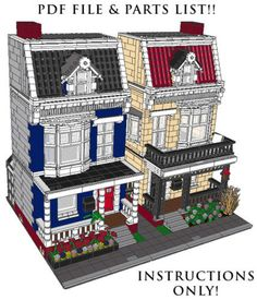 Lego Custom 2 Modular Buildings house #2 INSTRUCTIONS! #LEGO