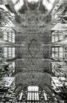LONDON / WESTMINSTER ABBEY ~ HENRY VII CHAPEL CEILING - BUILT DURING 1503-1512