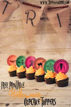 Free Printable Halloween Cupcake Toppers by www.thepinningmama.com #halloween #free #printables