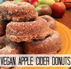 #Vegan apple cider donuts, anyone? Happy October! | The Friendly Fig