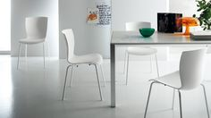 Chatty chairs. #Scavolini #TotalWhite