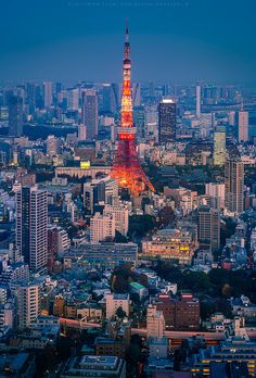 Tokyo Tower, Japan 東京タワー Never got to visit when I lived there. Definitely on my list of things to do.