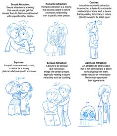 A comic about the different types of attraction one might feel. The descriptions were taken from a website about asexuality,I saw the link to that site floating around on tumblr and rea...