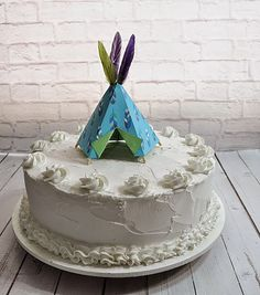 Teepee Cake Topper by Msapple on Etsy