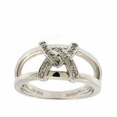 0.20 Cttw Round Brilliant Cut Diamond Cocktail Ring in 14K White Gold by GetDiamondsDirect on Etsy