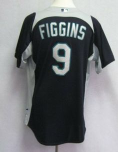 2011 Seattle Mariners Chone Figgins  9 Game Issued Blue Batting Practice  Jersey - Game Used acd781a5c
