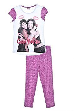 PYJAMA 3/4: T-shirt :• col rond contrasté en bord-côte• manches courtes• imprimé des personnages de Chica Vampiro• motifs lèvres•…