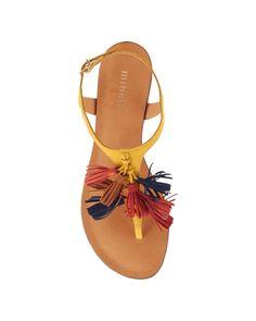 0dcc6960cea8 Plagette - Aicha - Nu pieds - La Collection chaussures - Cuir - Jaune  Chaussures De