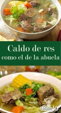 Grandmother's chicken soup Spanish 💕 Mexican Beef Soup, Mexican Soup Recipes, Mexican Dishes, Dinner Recipes, Authentic Mexican Recipes, Guatemalan Recipes, Caldo De Rez Recipe, Sopas Light, Salvadoran Food