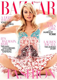 Actress Margot Robbie lands the April 2015 cover form Harper's Bazaar UK looking beautiful in a dress from Stella McCartney. Photographed by David Slijper, the blonde wears spring looks for her photo shoot. In her interview, she talks about her 'The Wolf of Wall Street' audition and how she slapped Leonardo DiCaprio. Related: Margot Robbie Poses for ...