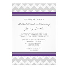 ReviewPlum Gray Chevron Bridal Lunch Invitation Cardstoday price drop and special promotion. Get The best buy