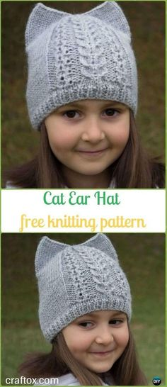 Collection Of Fun Kitty Cat Hat Knitting Patterns Free And Paid Size