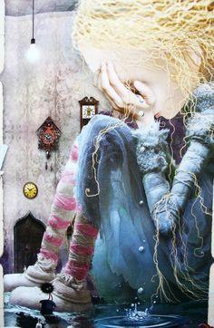 From 'Alice's Adventures in Wonderland', retold by Harriet Castor, illustrated by Zdenko Basic. Alice aux pays des merveilles --- Alice in Wonderland --- Alicia en el País de las Maravillas --- Alice im Wunderland Lewis Carroll, Illustrations, Illustration Art, Go Ask Alice, Chesire Cat, Alice Madness, Were All Mad Here, Adventures In Wonderland, Through The Looking Glass