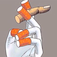 Cigarette fingers