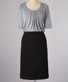 Loving this Boden Gray Marl & Black Mixed Fabric Dress - Women on #zulily! #zulilyfinds