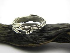 Silver twig stack ring, olive branch stacking ring in sterling silver size 5,5 - 10 by nikiforosnelly on Etsy https://www.etsy.com/listing/193343720/silver-twig-stack-ring-olive-branch