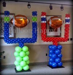 Seattle Seahawks & New England Patriots - Goal Post Balloon Columns