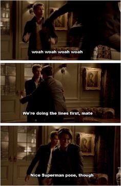 TVD Season 3 Blooper... Joseph saying that to Daniel = Hilarious