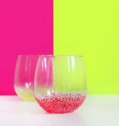DIY Speckled Glasses by ispydiy