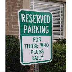 Should be implement this at our office? How many of you will be able to park here? #Kanata #Dentist #Humour