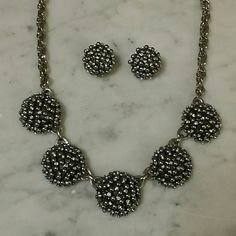 ☆Sale☆ Talbot necklace and earrings Gorgeous black with a touch of sparkle Talbots Jewelry Necklaces