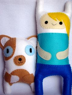 Fionna and Cake! I really want to make these and maybe Fin and Jake.