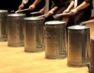Drumming on the bins! www.corporatebash.co.uk