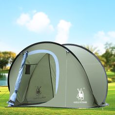 Instant Automatic Pop Up Backpacking C&ing Hiking 4 Man Tent //c&ingtentlover.com/best-pop-up-tents/ | Backpack Tent | Pinterest | Backpack c&ing ... & Instant Automatic Pop Up Backpacking Camping Hiking 4 Man Tent ...