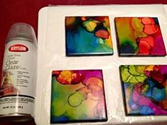 What a beautifully creative and easy project. Could be great to do with kids too! Alcohol Inked Tile Coasters: Simple and Cheap - this project was so easy to complete but turned out so beautiful - It was the perfect Father's Day gift! Alcohol Ink Tiles, Alcohol Ink Crafts, Alcohol Ink Painting, Sharpie Alcohol, Alcohol Markers, Fun Crafts, Crafts For Kids, Arts And Crafts, Art Resin