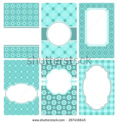 Set of vector business card templates. Perfect for invitations and greeting cards for any holiday - Mother's Day, Valentine's Day, wedding, birthday, birth of a child. - stock vector