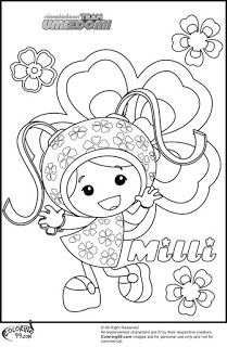 milli team umizoomi coloring pages - Team Umizoomi Coloring Pages