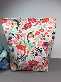 Excited to share the latest addition to my #etsy shop: Spring Robin Knitting Project Bag - Snap GoGo #snapprojectbags #containers #knittingbag #projectsbag #accessories