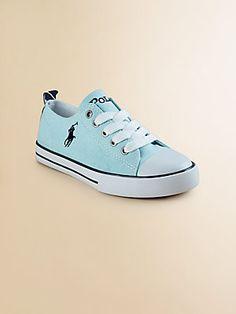 Ralph Lauren Girl's Brooster Low-Top Canvas Oxford Sneakers