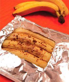 Warm bananas, doused in dark brown sugar