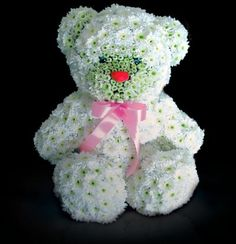 Cute Teddy Bears, Dolls and Toys Made from Flowers - Amazing Creativity Unique Flower Arrangements, Unique Flowers, Deco Floral, Arte Floral, Flower Crafts, Flower Art, Cute Baby Girl Photos, Funeral Arrangements, Sr1