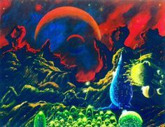 martinlkennedy:Love the colours. Worlds of Fantasy by Steve R...