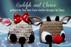 Ravelry: Rudolph and Clarice pattern Pack pattern by Too Yarn Cute